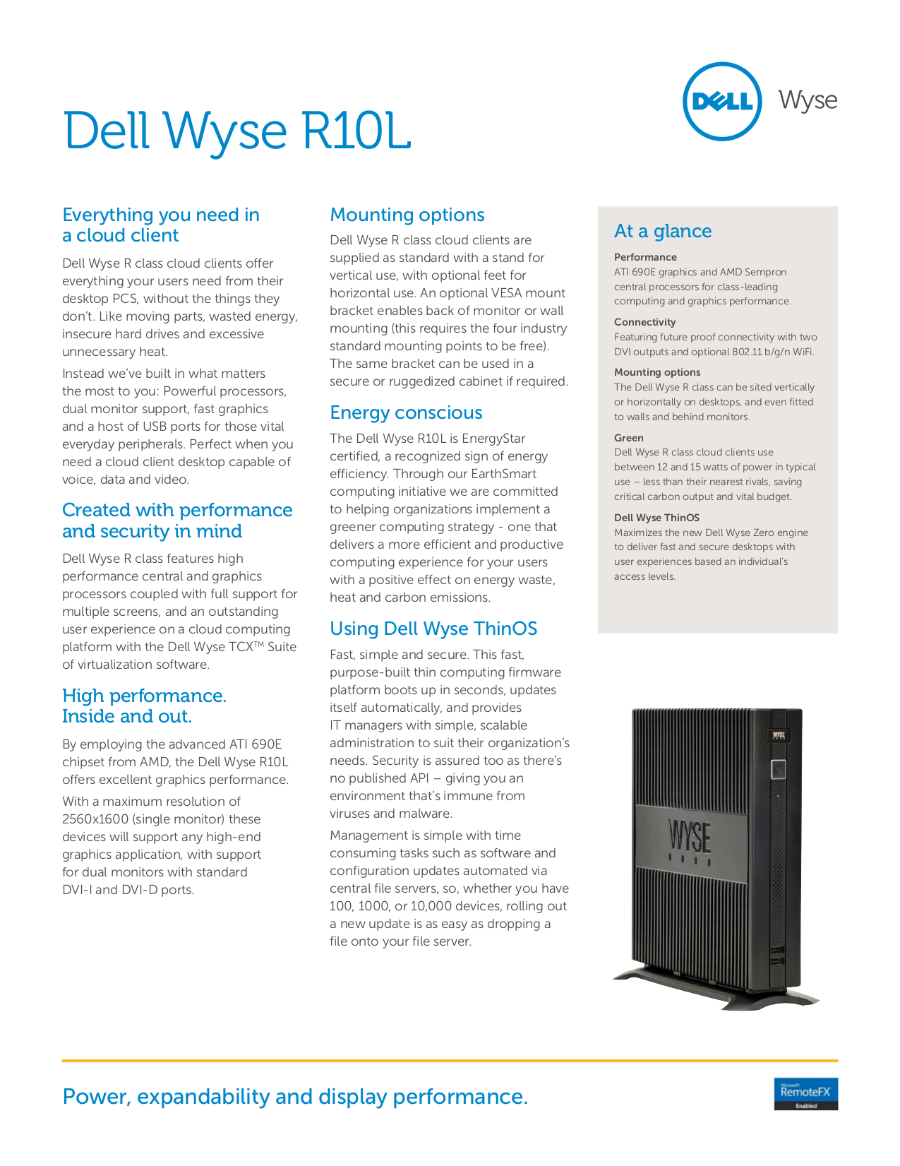 Wyse Desktop R90L pdf page preview