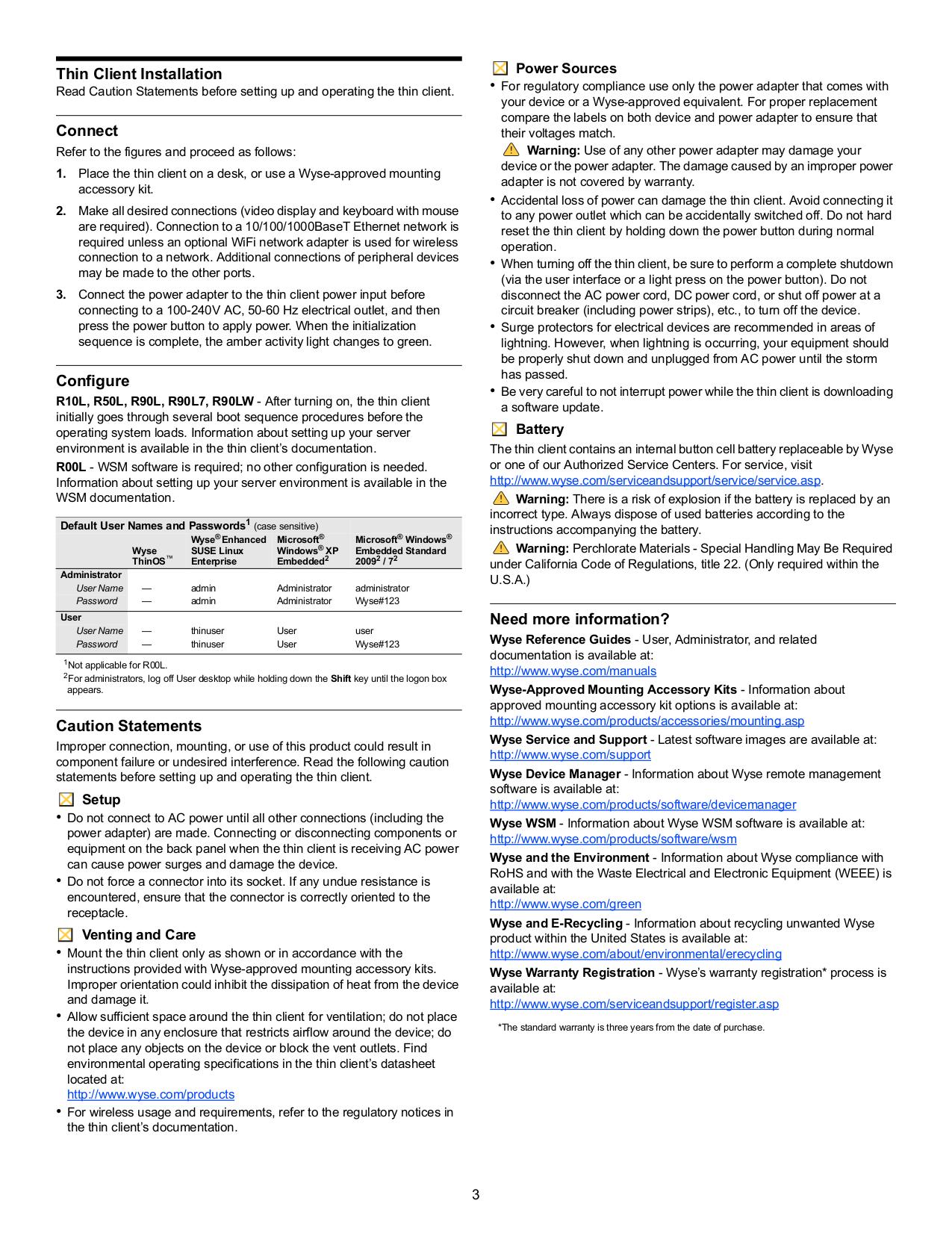 PDF manual for Wyse Desktop R90L