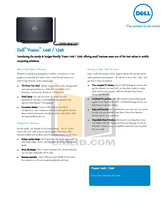 download free pdf for dell vostro 1540 laptop manual rh umlib com dell vostro 1540 user manual pdf Dell Vostro 1540 3700