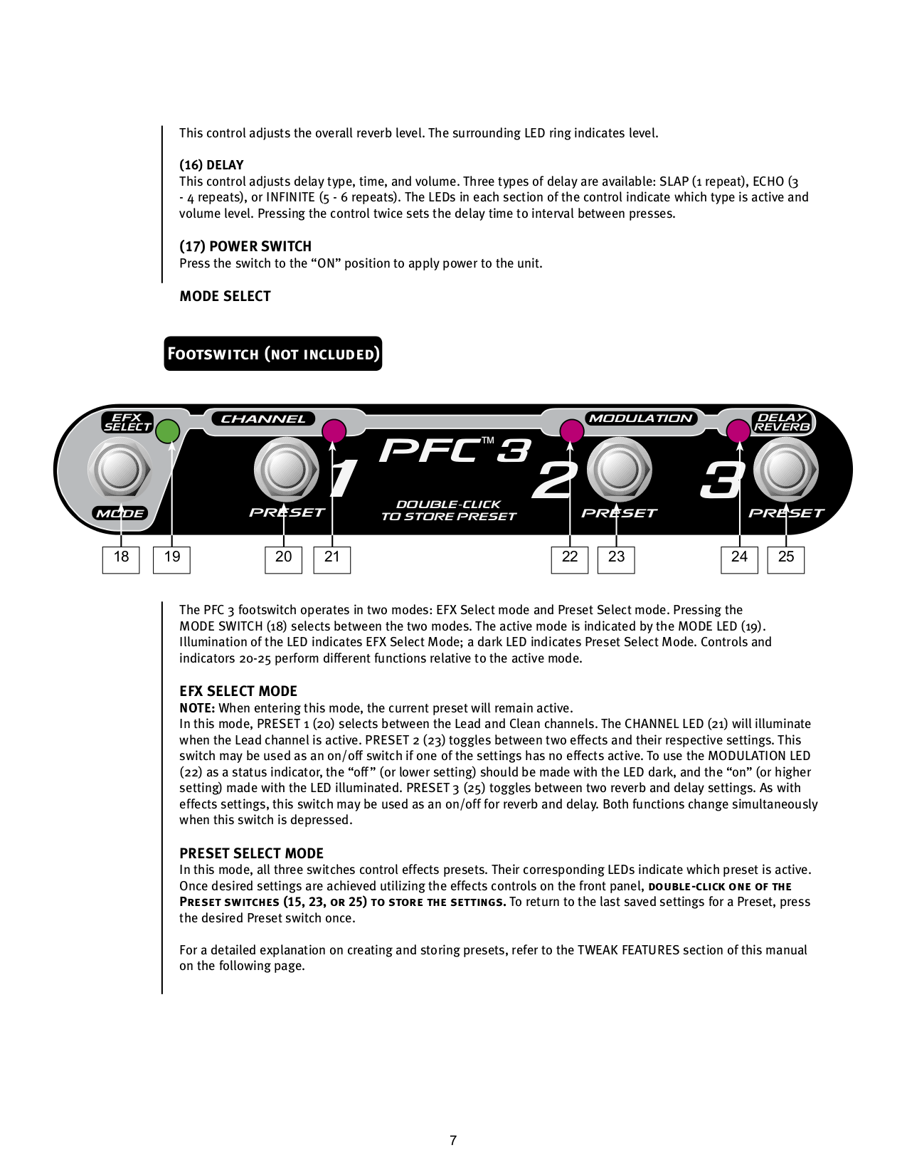 PDF manual for Peavey Amp Transtube Series 110 EFX