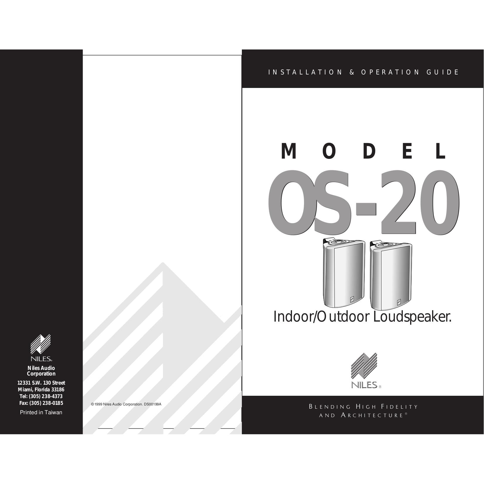 pdf for Niles Speaker IE5 manual