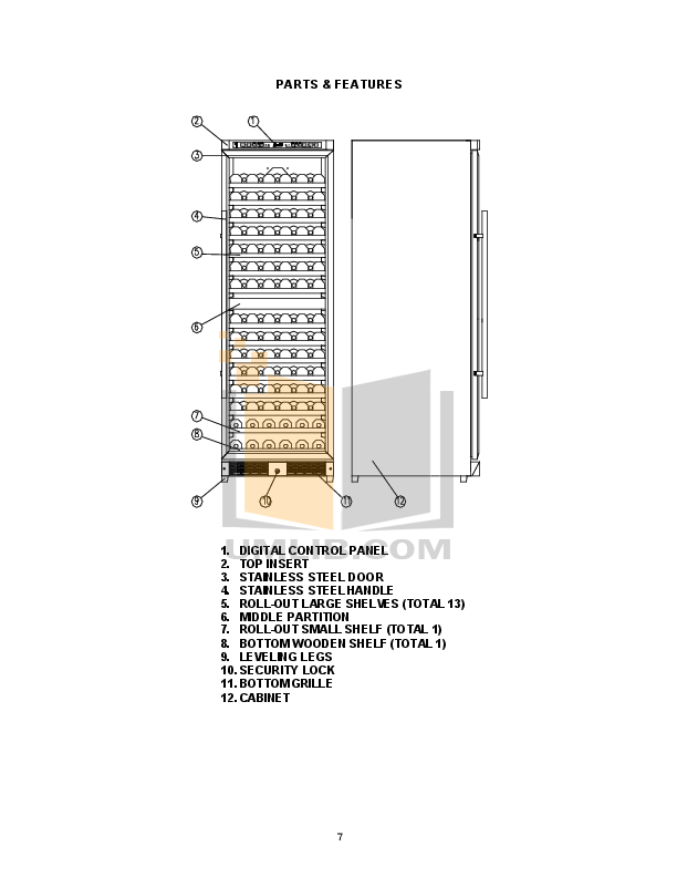 Avanti Refrigerator WCR683DZD pdf page preview
