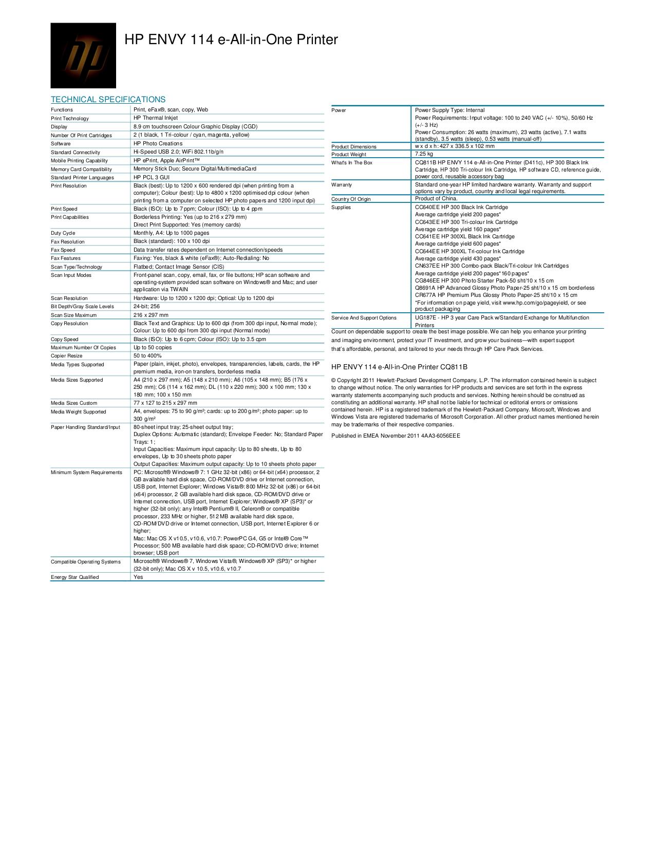 download free pdf for hp envy 114 multifunction printer manual rh umlib com  hp envy 114 manual