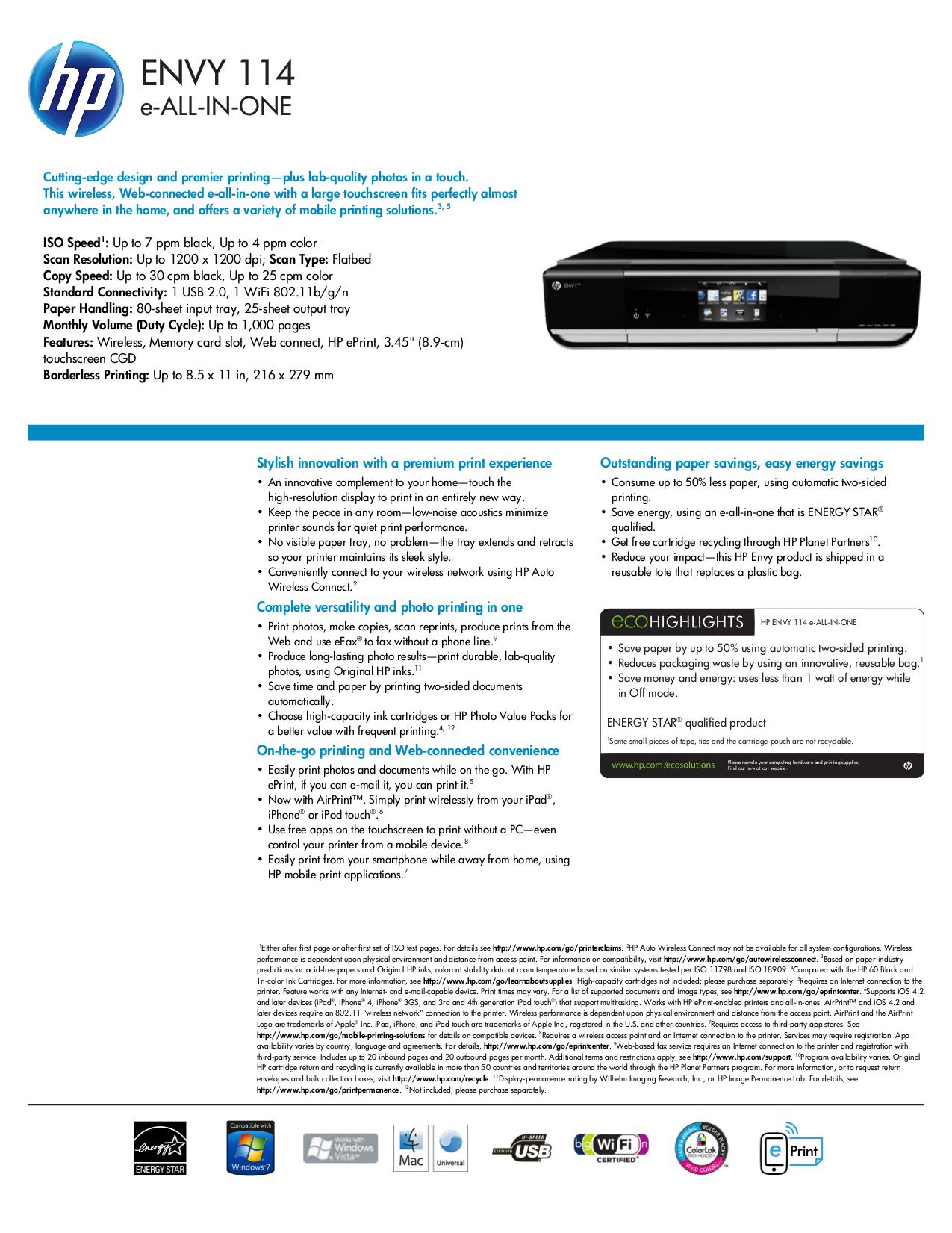 download free pdf for hp envy 114 multifunction printer manual rh umlib com hp envy 750-114 manual