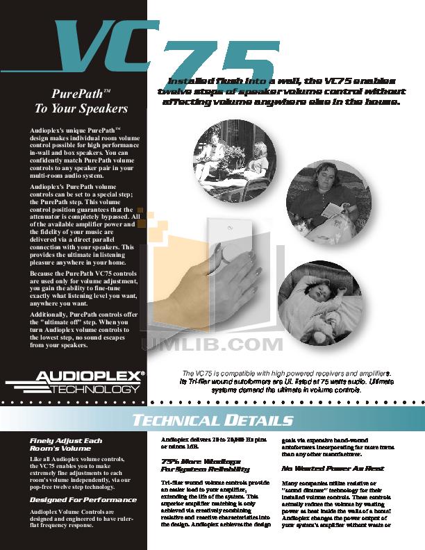 pdf for Audioplex Other MJ-2 Distribution Hub manual