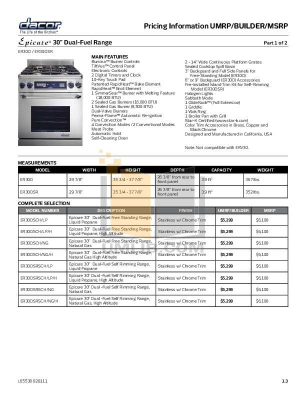 Dacor Microwave MMD24 pdf page preview