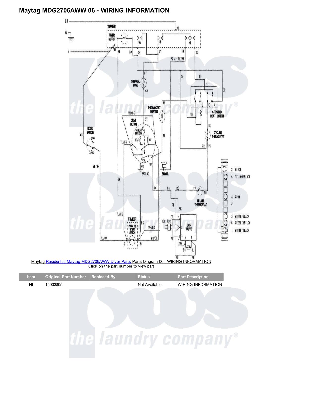 Maytag Atlantis Dryer Wiring Diagram  Appliance Maytag
