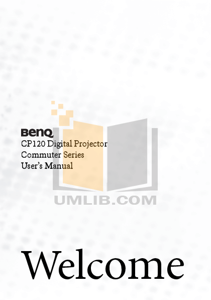 pdf for Benq Projector CP120 manual