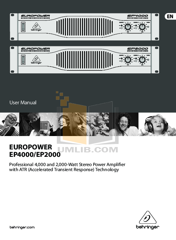 Download free pdf for Behringer EUROPOWER EP4000 Amp manual on behringer power amps, behringer ep1500, behringer amplifiers product, behringer 4000 amp,