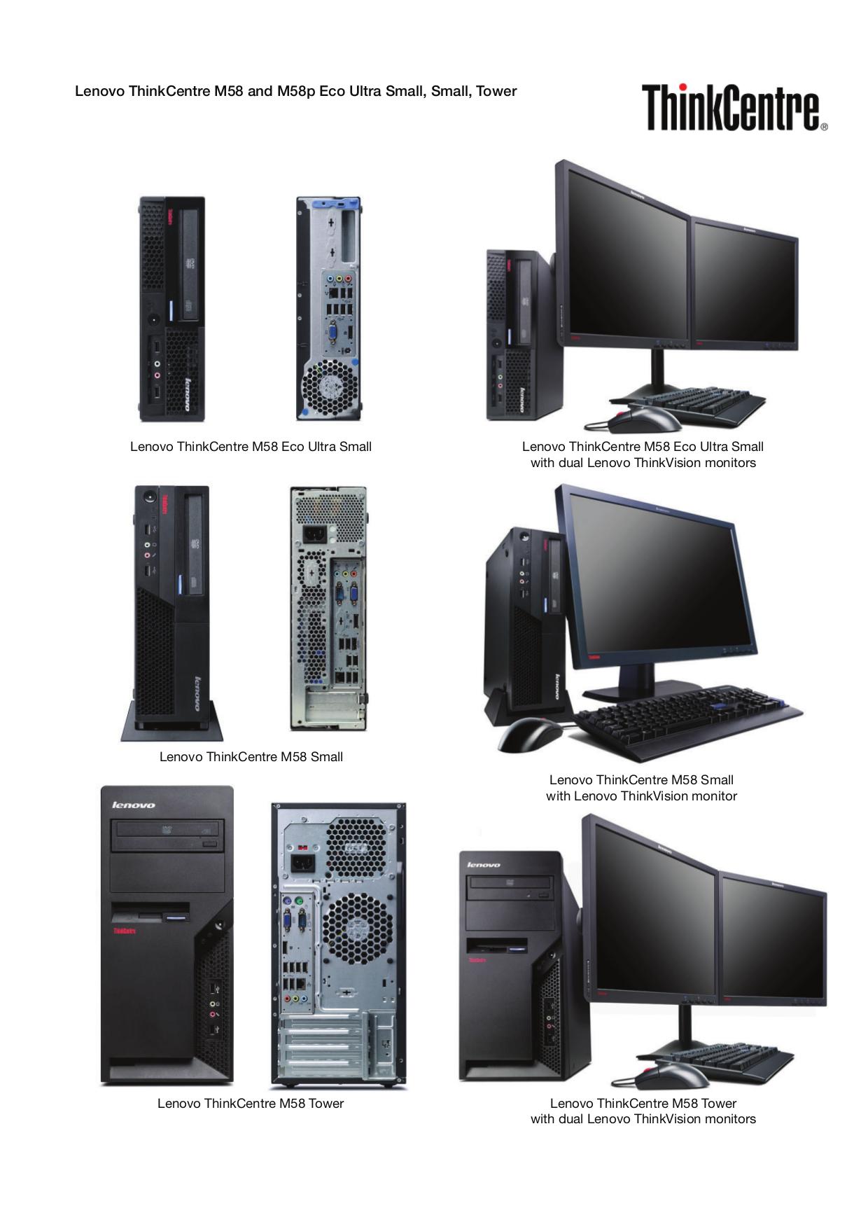 pdf for Lenovo Desktop ThinkCentre M58p 6209 manual