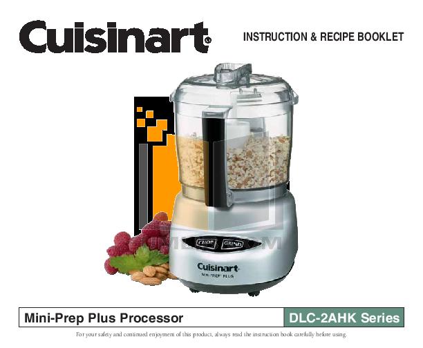 Pdf Cuisinart Food Processor