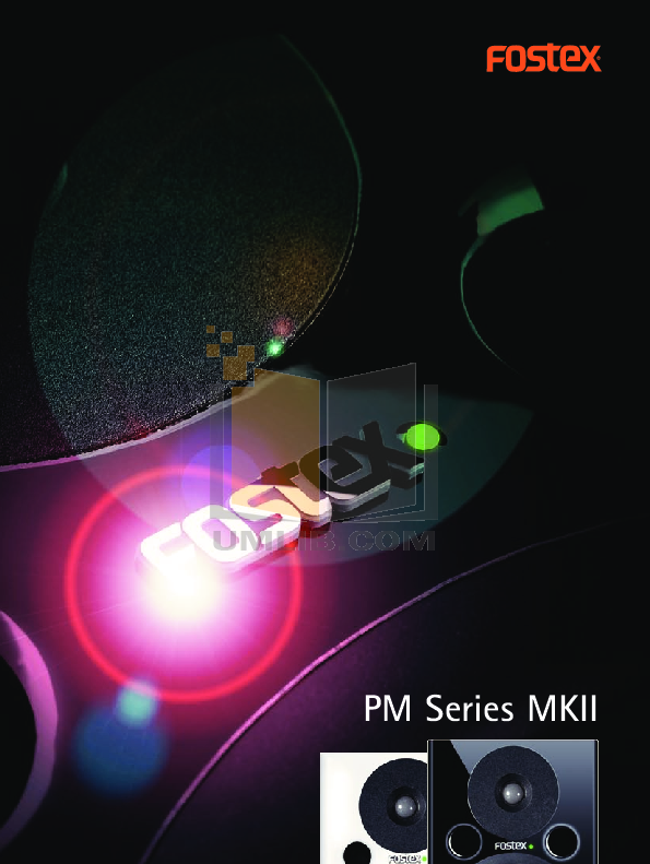 pdf for Fostex Speaker System PM-2 manual