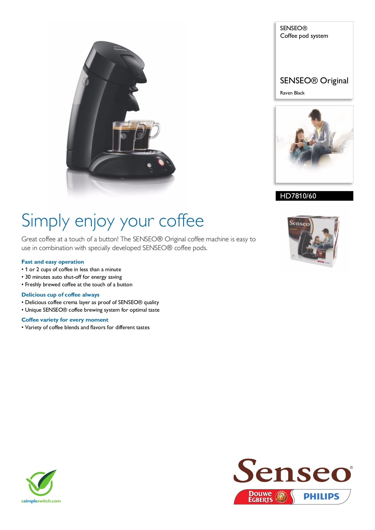 philips senseo coffee maker how to use