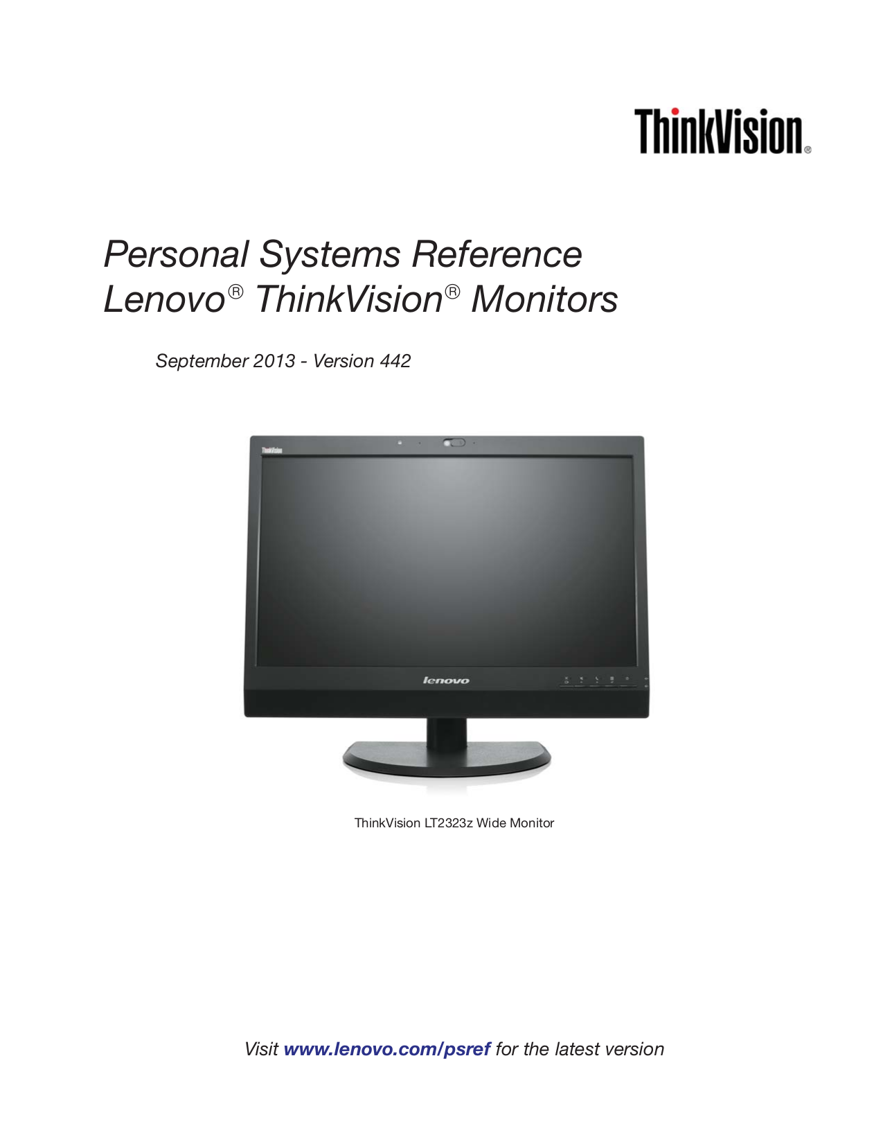 download free pdf for lenovo thinkvision l2251x monitor manual rh umlib com Lenovo ThinkVision LT1423 Release Date ThinkVision Lenovo 32 Inch