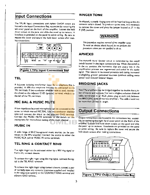 pdf manual for bogen car amplifier tpu35b rh umlib com