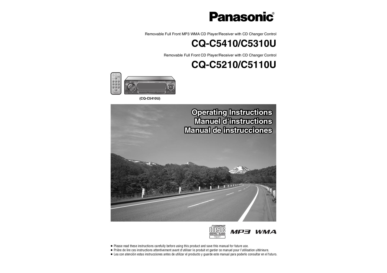 download free pdf for panasonic cq c5310u car receiver manual rh umlib com Panasonic Home Theater Panasonic SA BX500