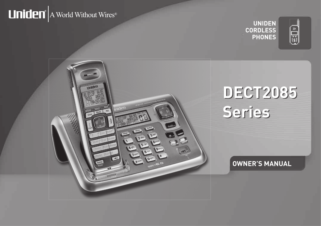 download free pdf for uniden dect2080 3 telephone manual rh umlib com Uniden Digital Answering System Phones Uniden DECT2080 3