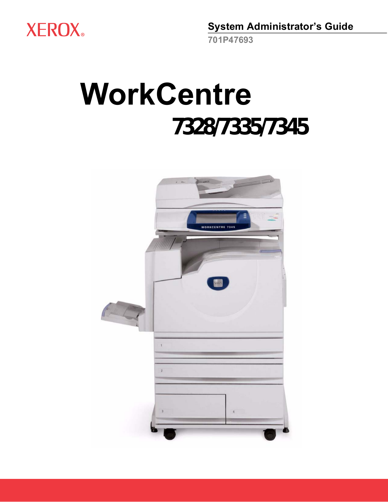 pdf for Xerox Multifunction Printer WorkCentre 7345 manual