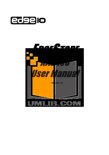 pdf for Edge10 Storage NAS400 manual