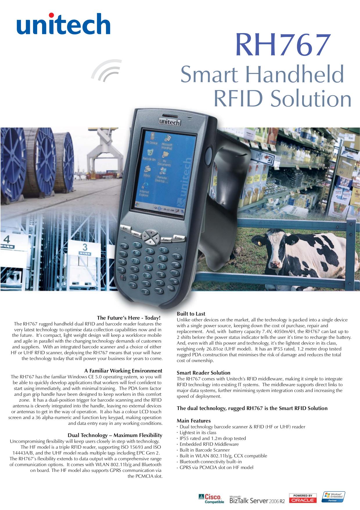 pdf for Unitech PDA RH767 manual