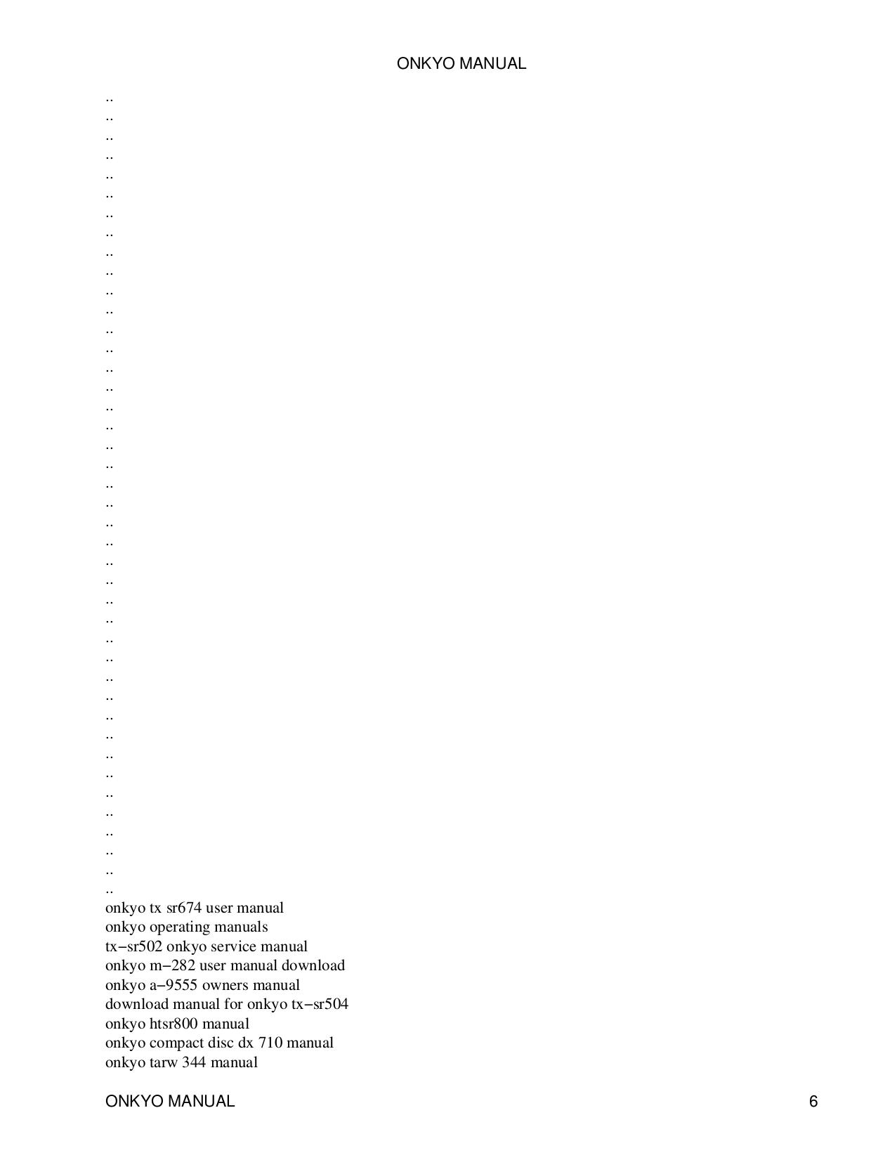 ... Onkyo Receiver TX-8211 pdf page preview ...