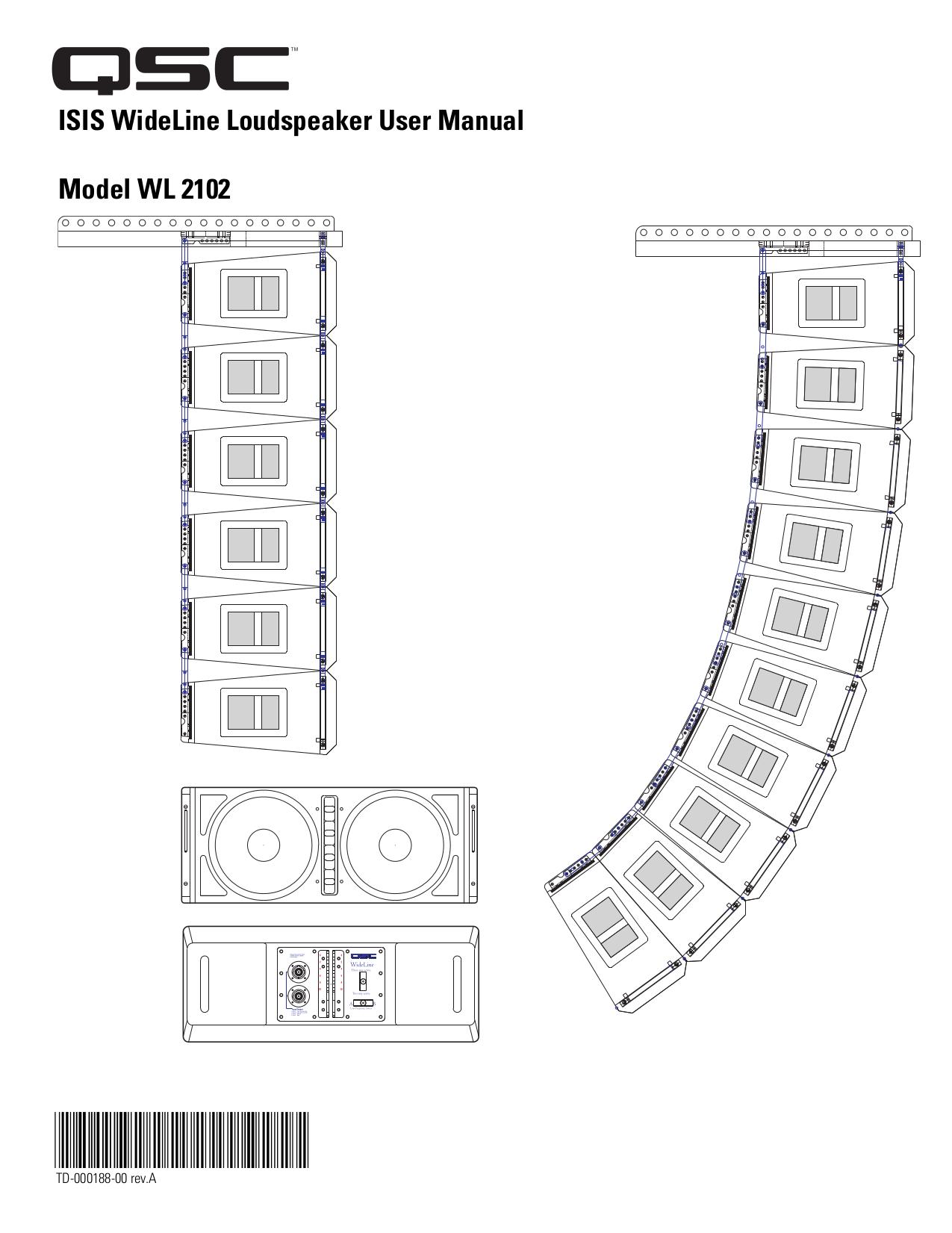 pdf for QSC Subwoofer ISIS 215SB manual