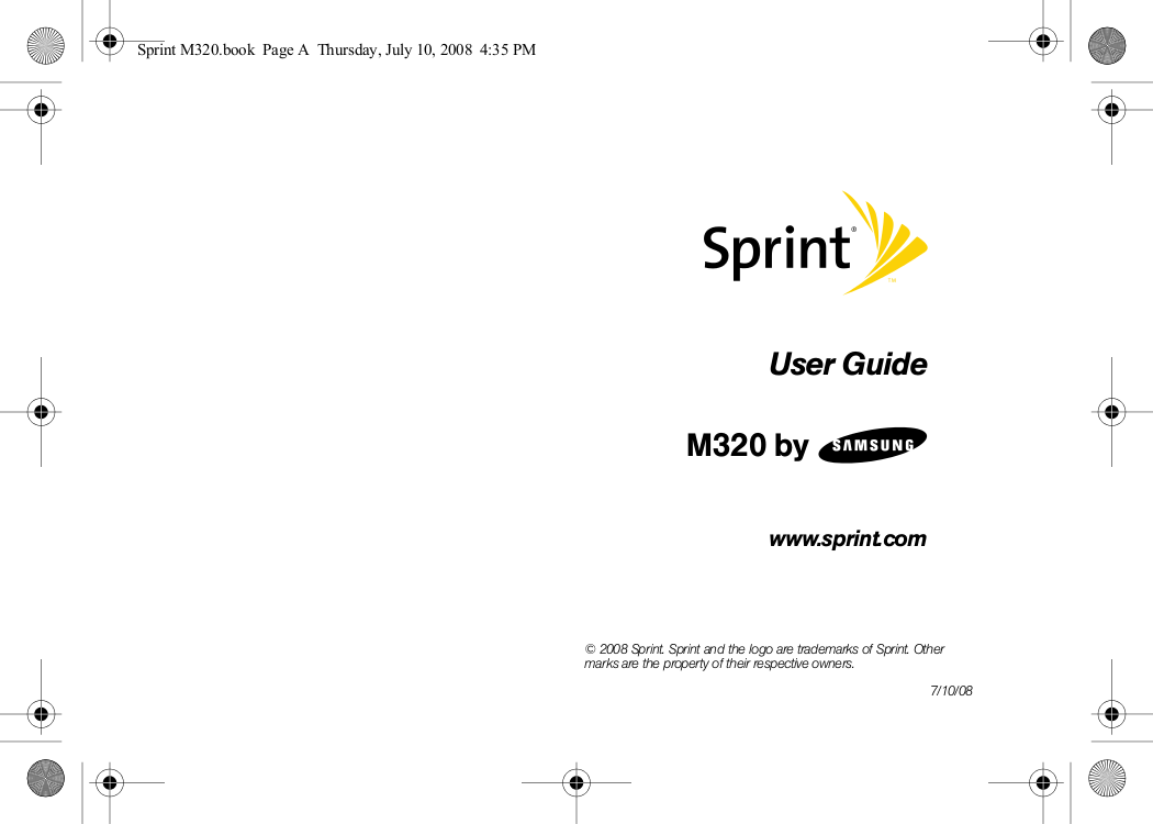 pdf for Samsung Cell Phone SPH-M320 manual