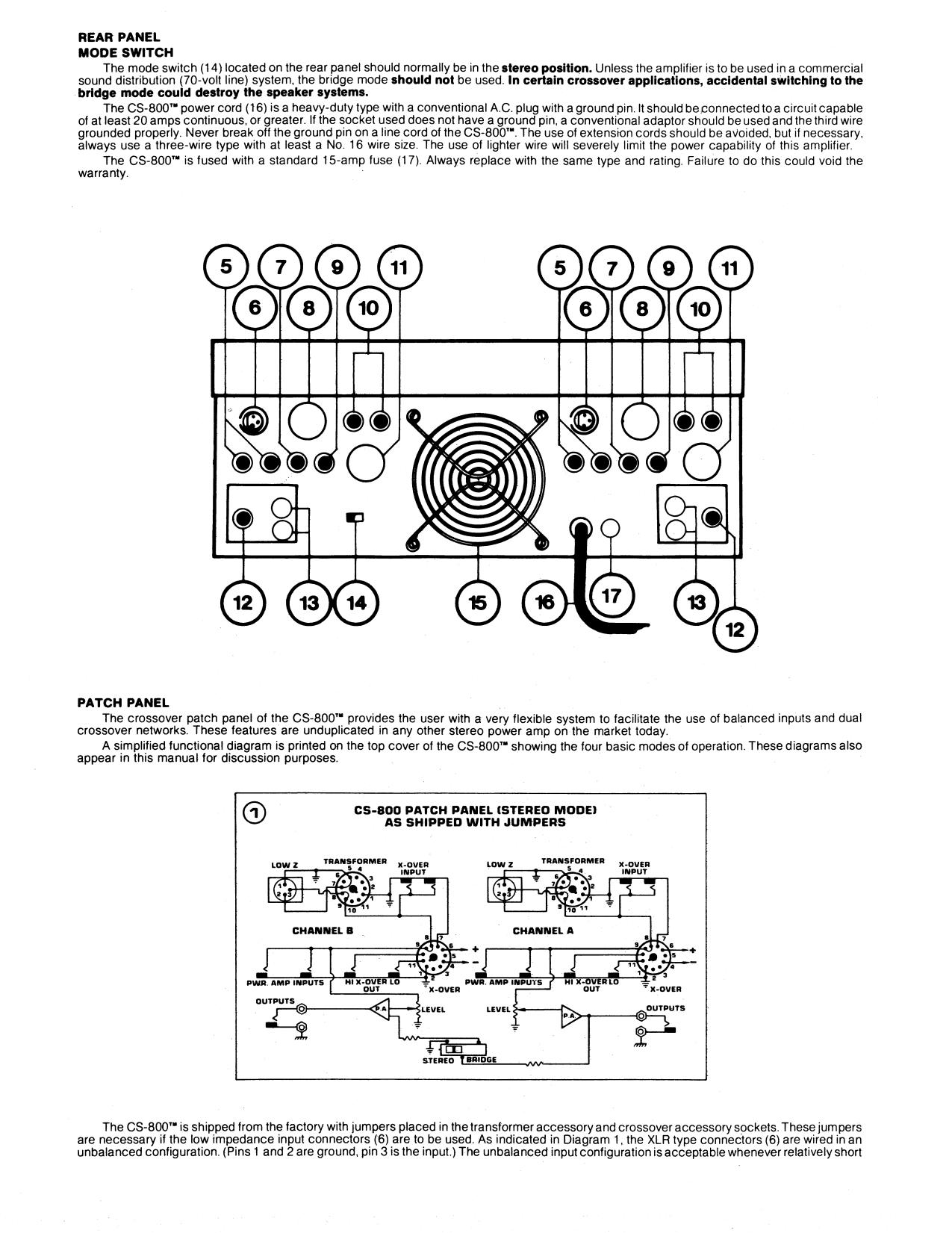 pdf manual for peavey amp cs 800 rh umlib com Peavey CS 800 Manual Amplificador Peavey CS800