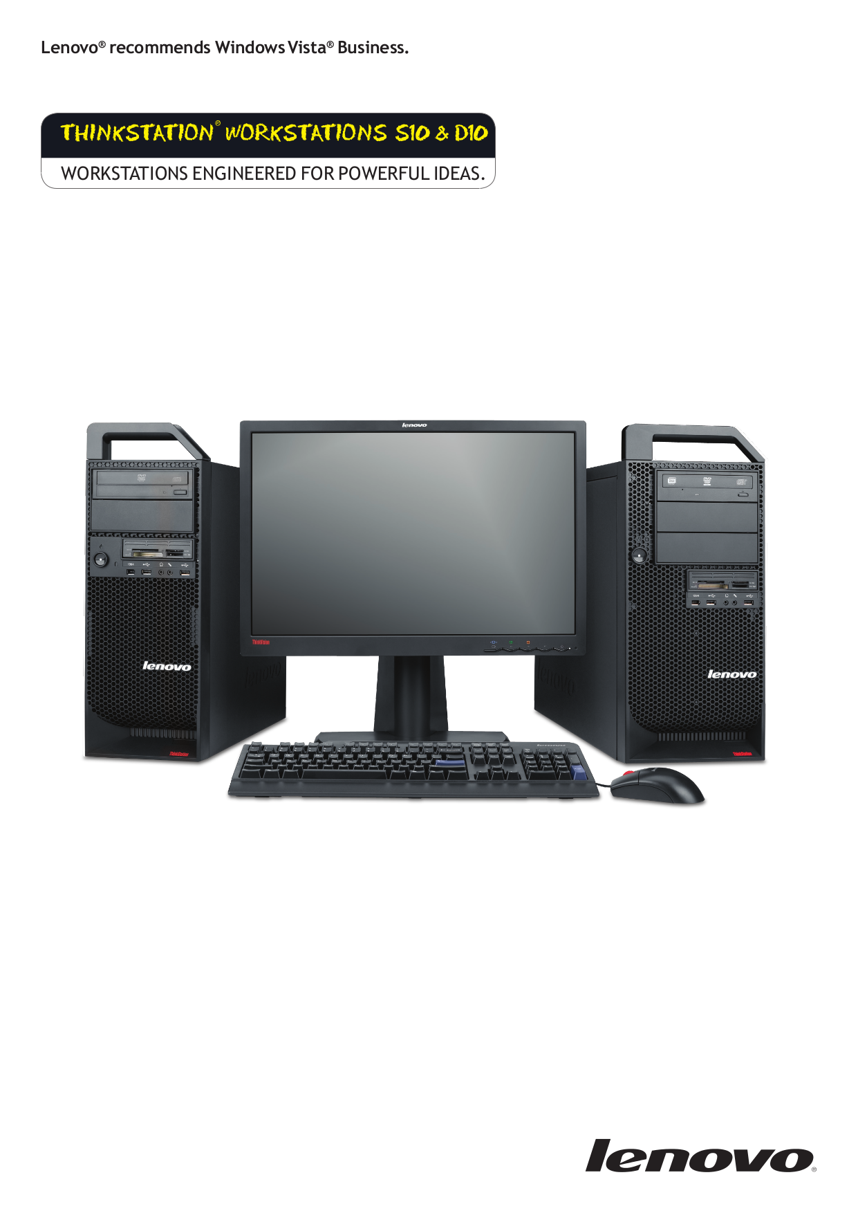 pdf for Lenovo Desktop ThinkStation S10 6483 manual