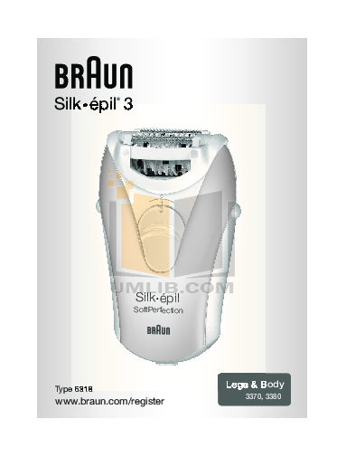 pdf for Braun Other Silk-epil SoftPerfection 3370 Epilators manual