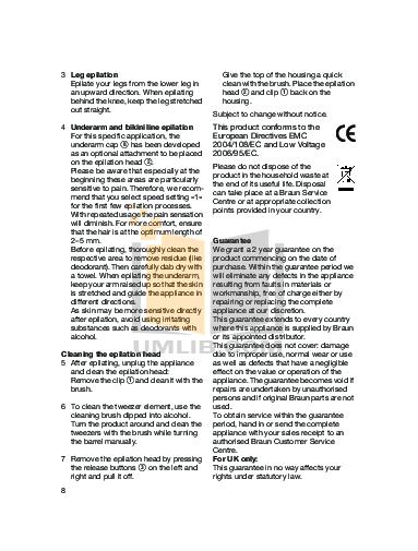 Braun Other Silk-epil SoftPerfection 3370 Epilators pdf page preview