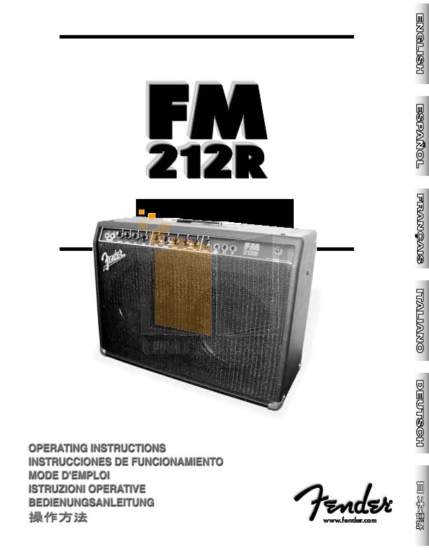 download free pdf for fender frontman 212r amp manual. Black Bedroom Furniture Sets. Home Design Ideas