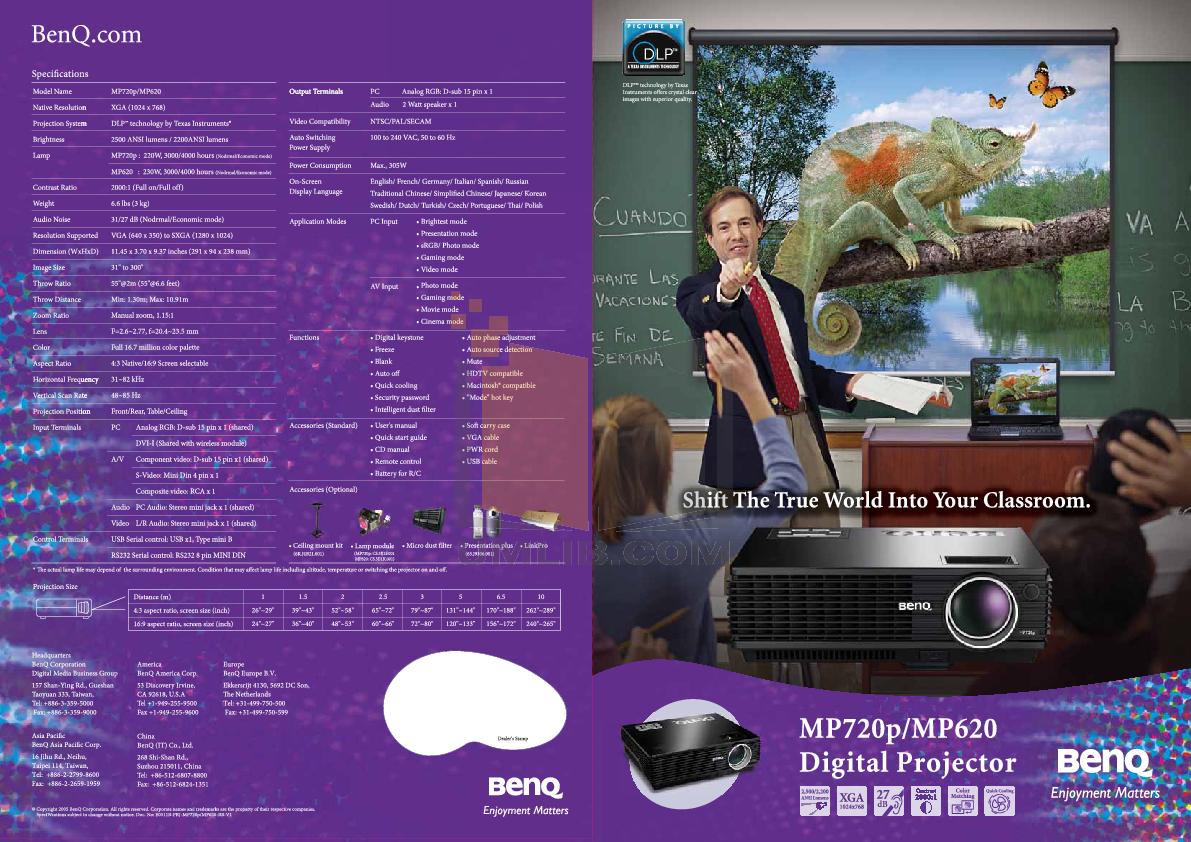 Benq mp620p dlp projector | ebay.