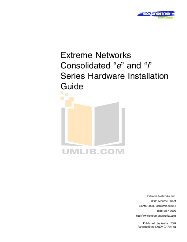 pdf for Extreme Other PoS Network-Accessory manual