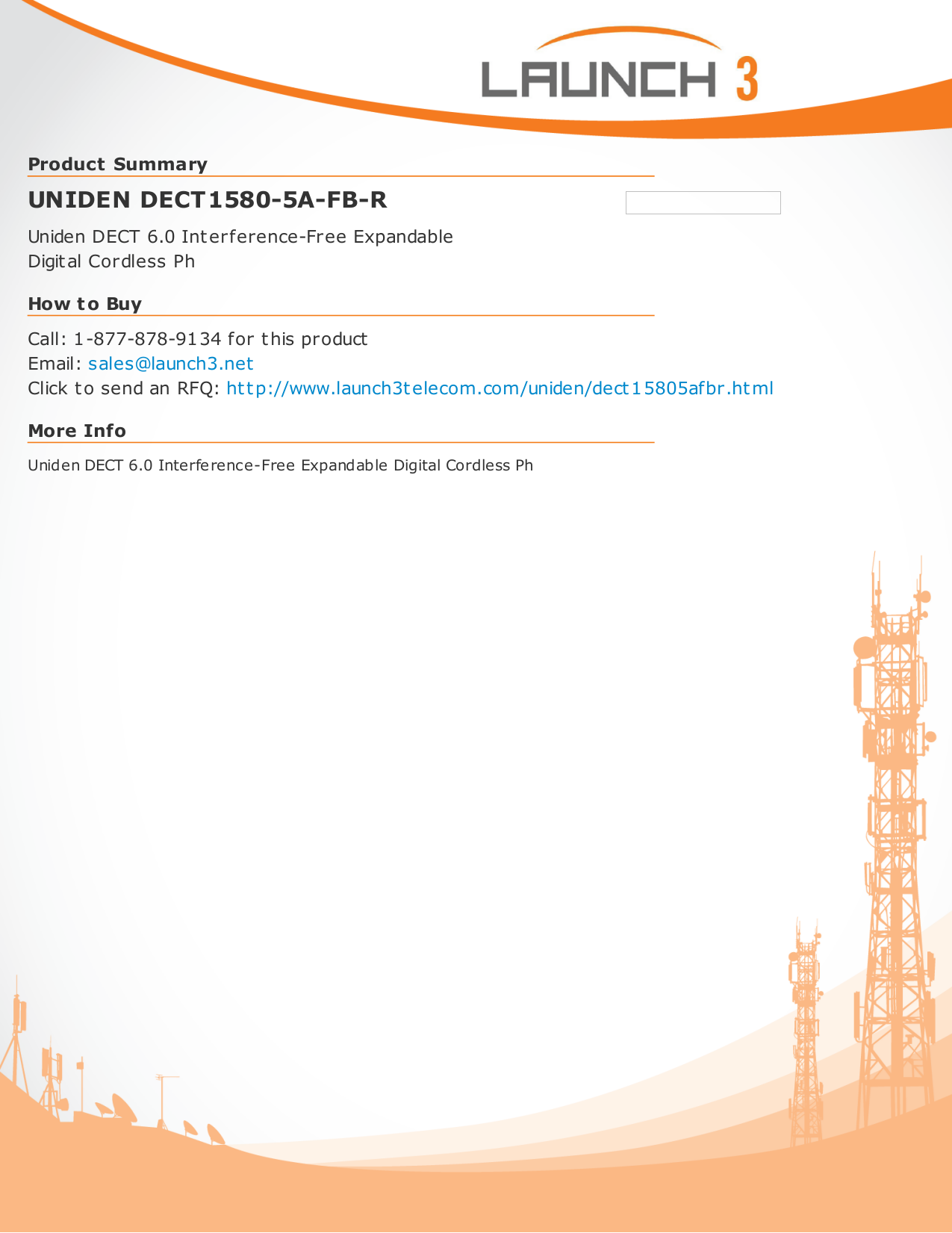 pdf for Uniden Telephone DECT1580-3 manual