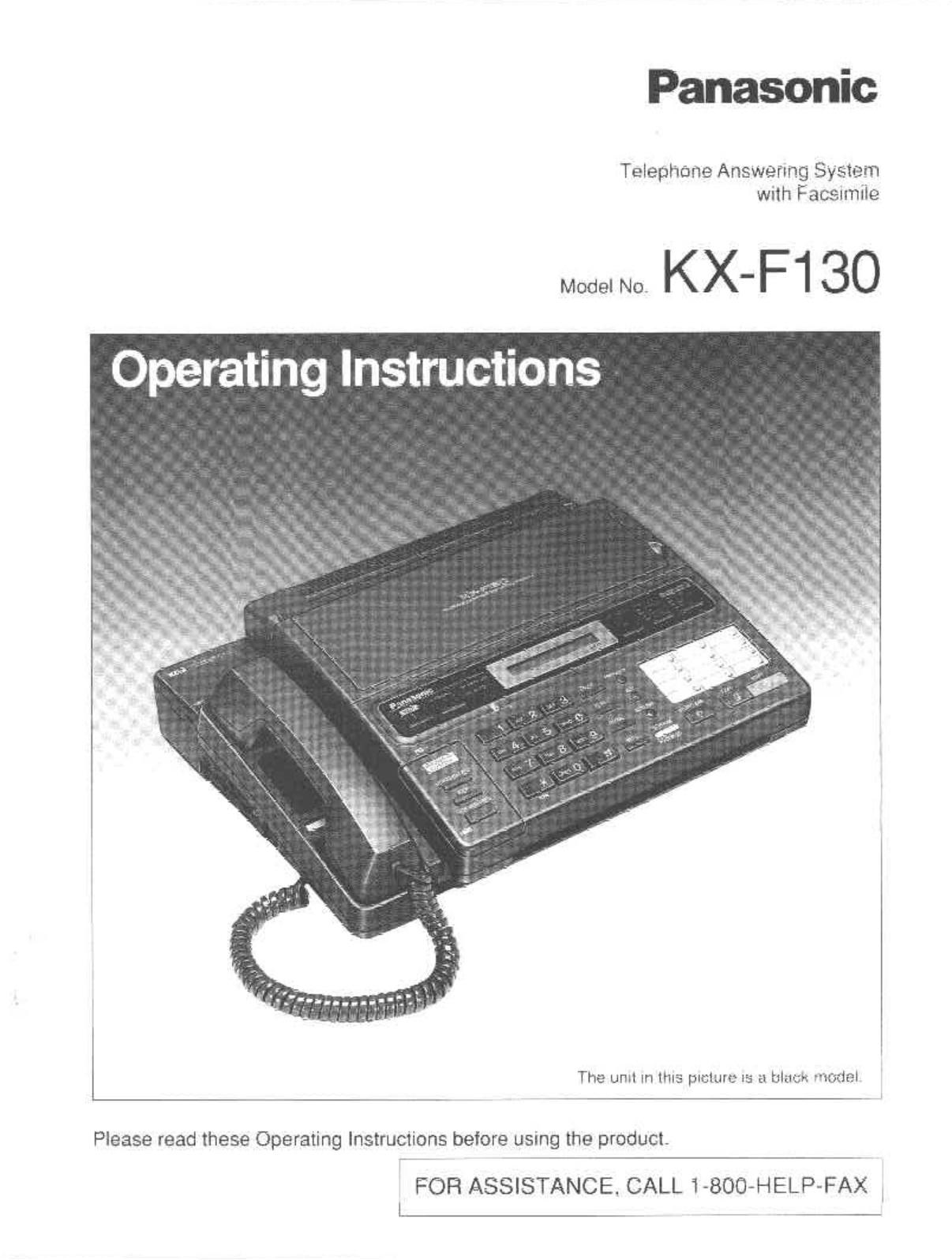 Panasonic kx f130bx инструкция скачать
