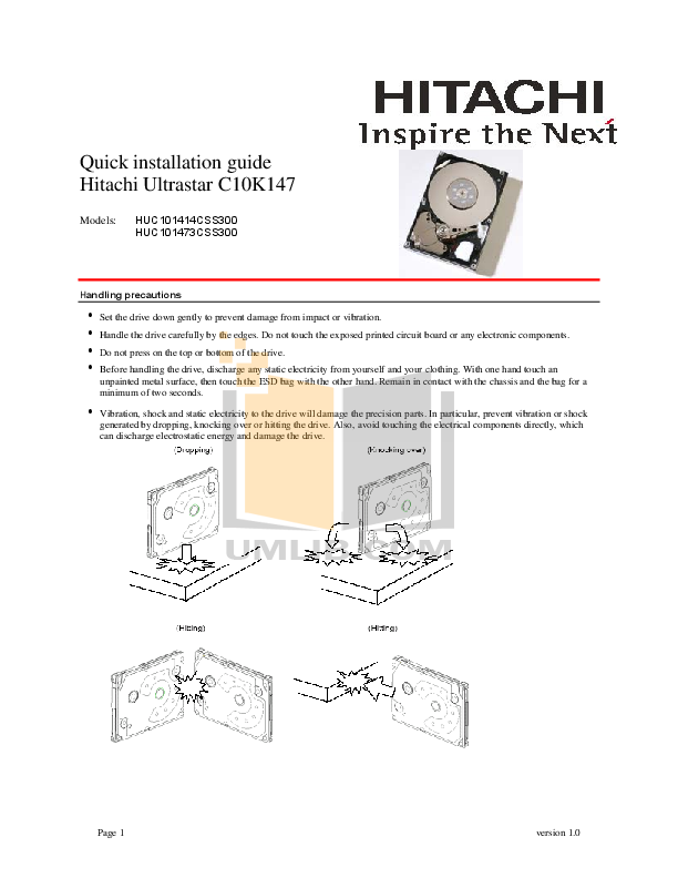hitachi storage manuals