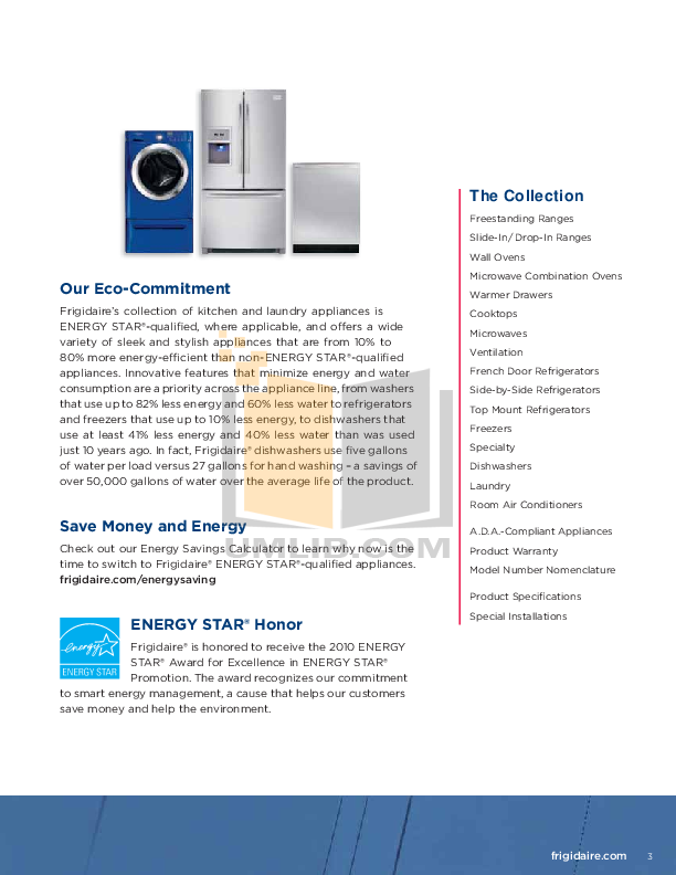 Frigidaire Refrigerator Gallery FGHN2844L pdf page preview