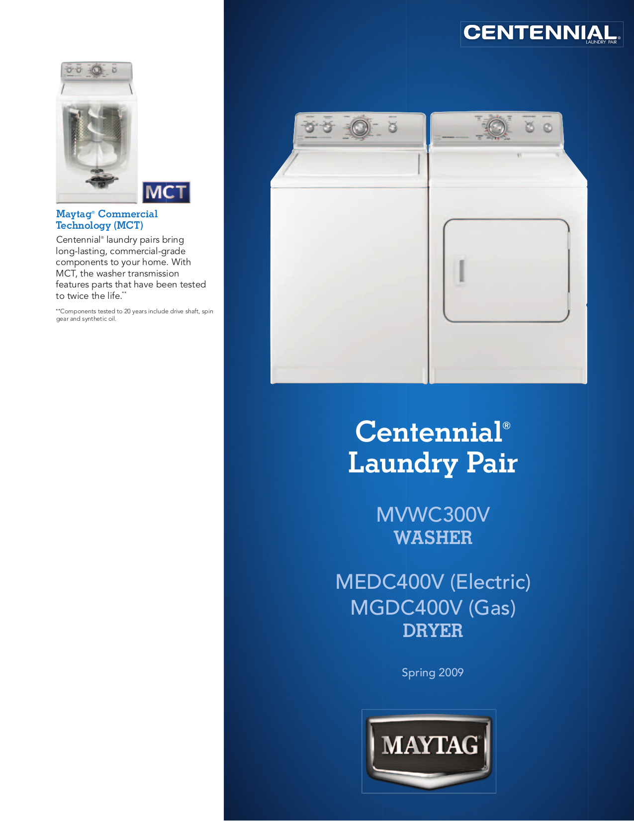 Maytag Centennial Dryer Medc200xw1 Service Manual In Pdf Whirlpool 677818l For Gas And Electric Dryers