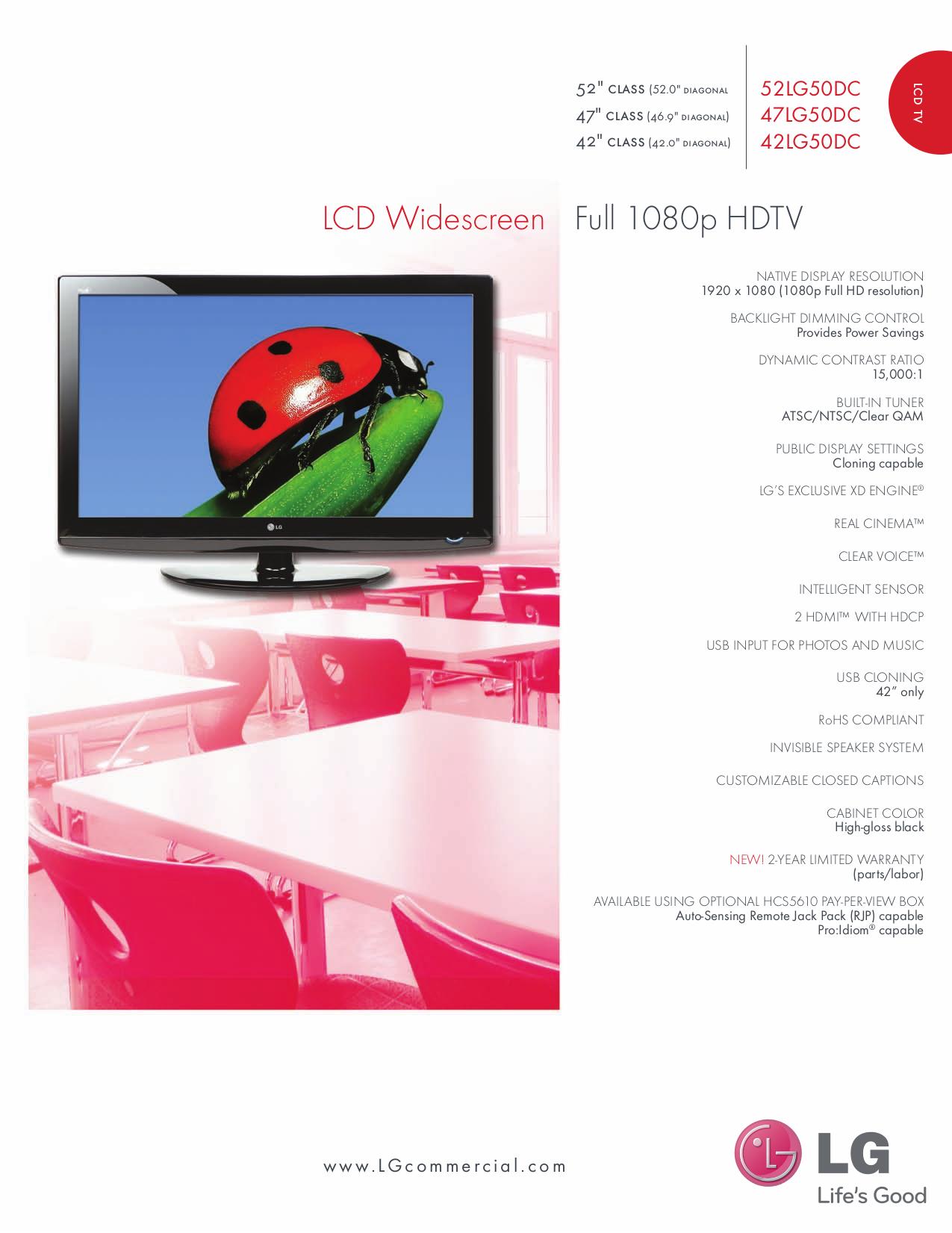 pdf for LG TV 47LG50DC manual