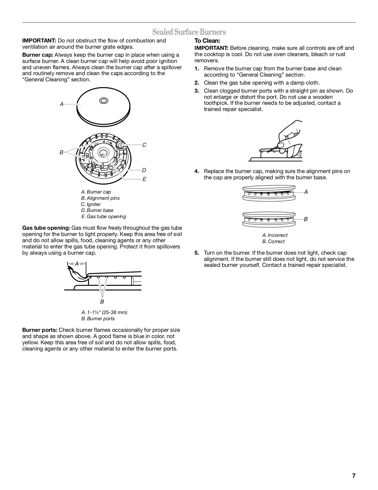 PDF manual for Whirlpool Range W3CG3014XS