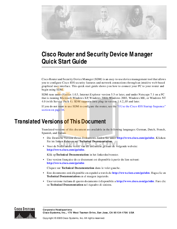 pdf for Cisco Router 1811 manual
