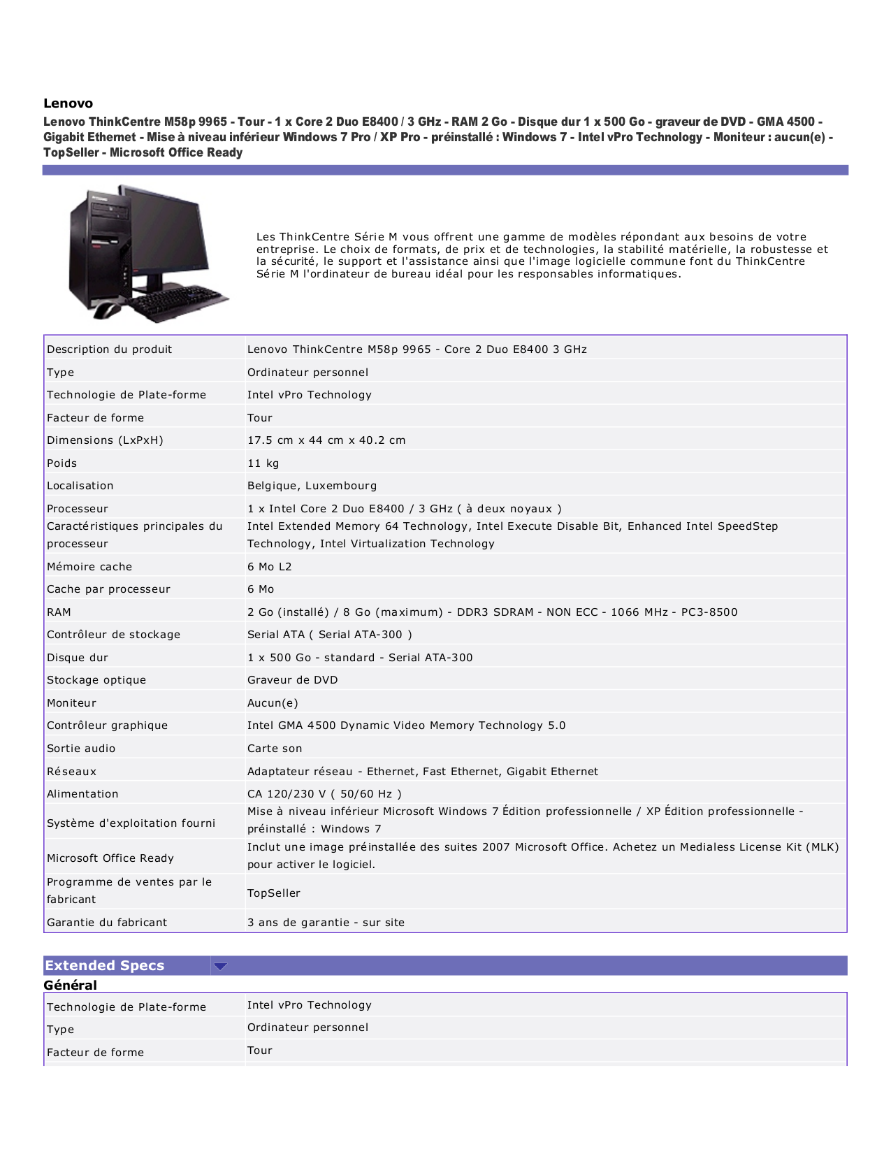 pdf for Lenovo Desktop ThinkCentre M58p 9965 manual