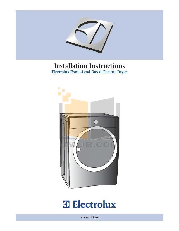 pdf for Frigidaire Dryer GLER642AS2 manual