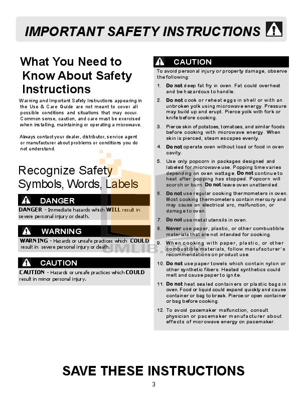 Pdf Manual For Frigidaire Microwave Ffce1638ls