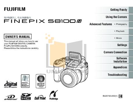 download free pdf for fujifilm finepix s1800 digital camera manual rh umlib com finepix s1800 mode d'emploi fujifilm s1800 manual