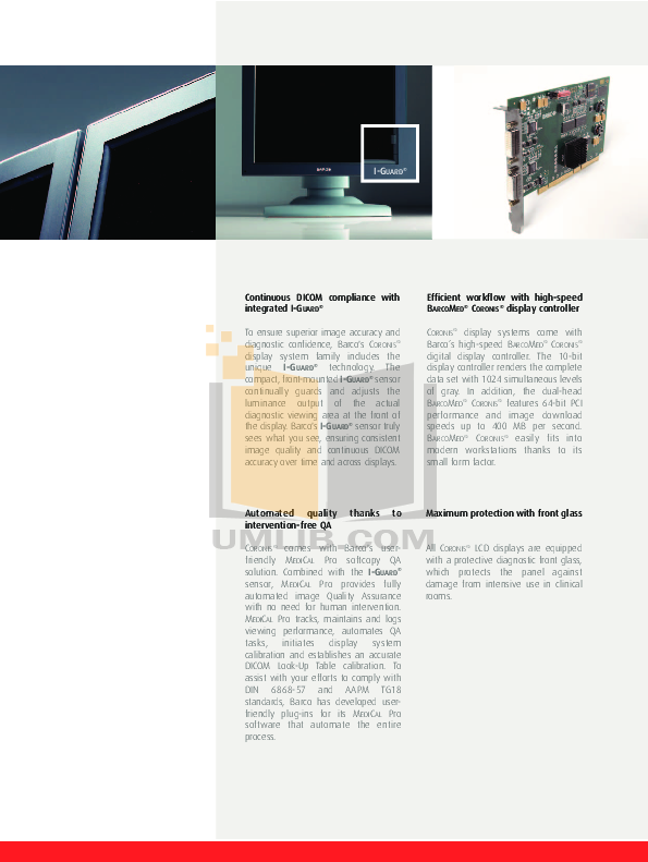 Barco Monitor Nio 2MP pdf page preview