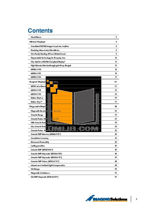 Barco Monitor Nio 2MP pdf page preview