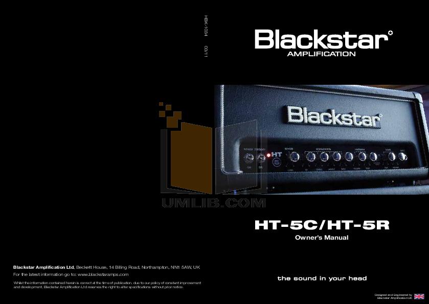 pdf for Blackstar Amp HT-5S manual