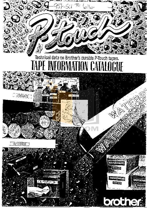 pdf for Brother Printer PT-350 manual